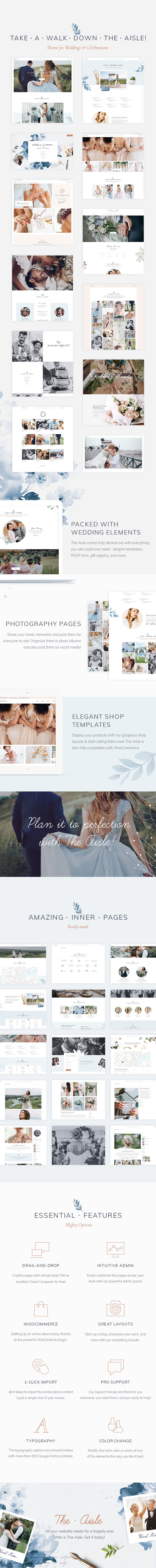 The Aisle - Elegant Wedding Theme - 1