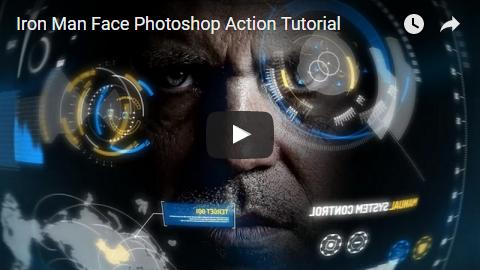 Iron Man Face Photoshop Action - 7