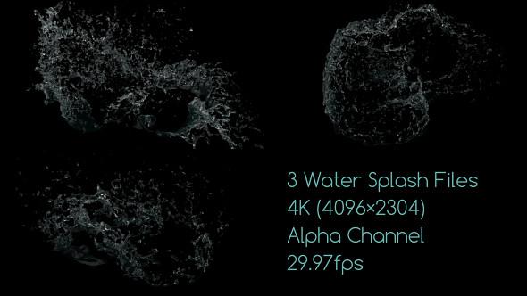 Water Drop Splash Logo - 66