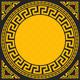 Vector Gold Greek Ornament - 6