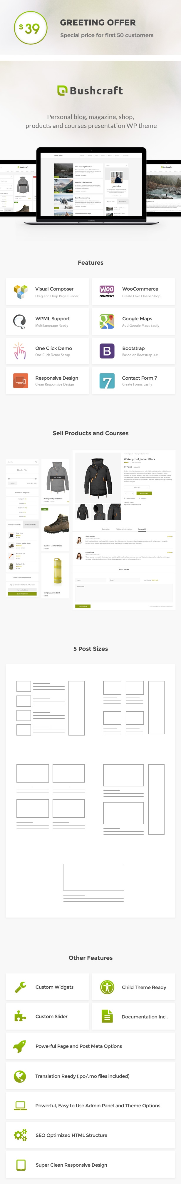 Bushcraft - Personal Blog WordPress Theme - wordpress, themeforest, blog-magazine