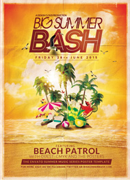 Design Cloud: Big Summer Bash Flyer Template
