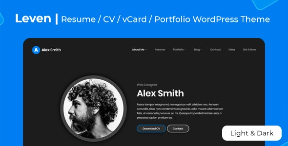 Leven - vCard, Resume & Portfolio Theme - Portfolio Creative