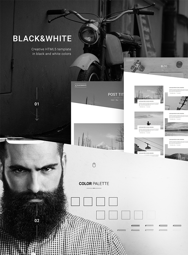 Black&White - Creative Multipurpose WordPress Theme - 6