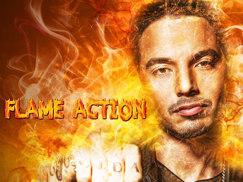 Flame Photoshop Action