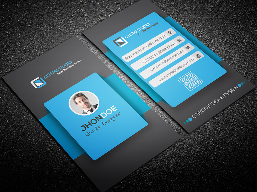 SmartPhone Style Business Card by CRISTAL_P | GraphicRiver