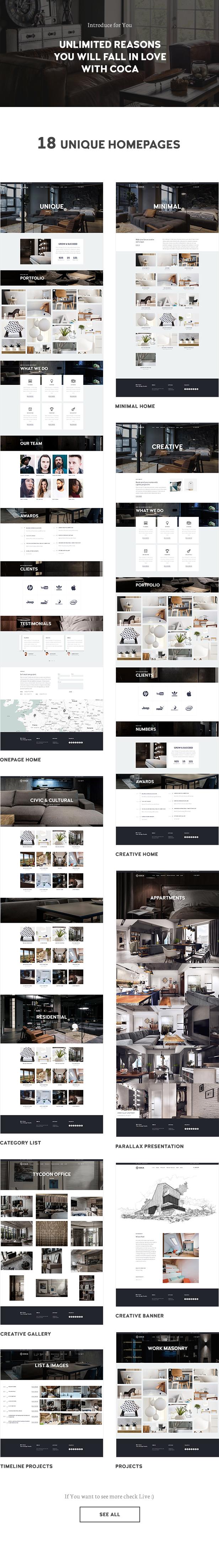 Architecture Coca - Interior Design and Architecture WordPress Architecture - 1
