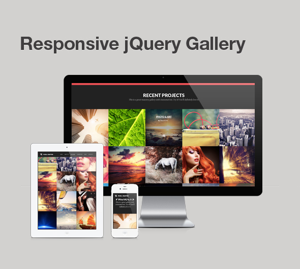 Pixel Crafted - HTML Onepage Responsive Template - 2