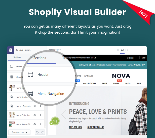 Nova - Multipurpose Drag & Drop Shopify Responsive Theme