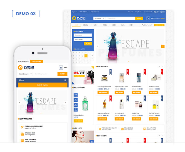 VG Pomer - Perfume Store WooCommerce WordPress Theme - 6