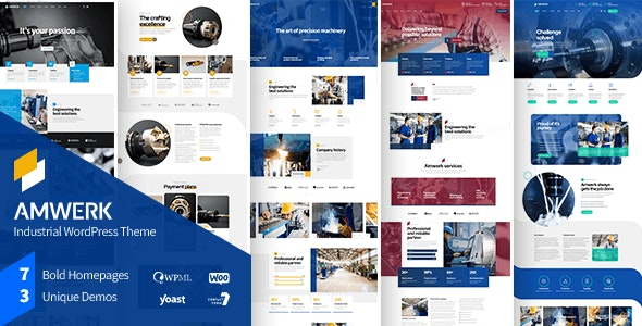 Amwerk - Industry WordPress Theme - Business Corporate