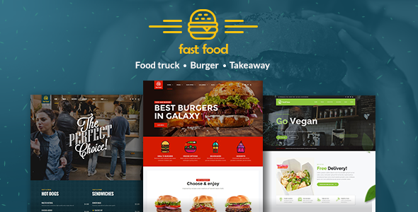 Fast Food - WordPress Fast Food Theme