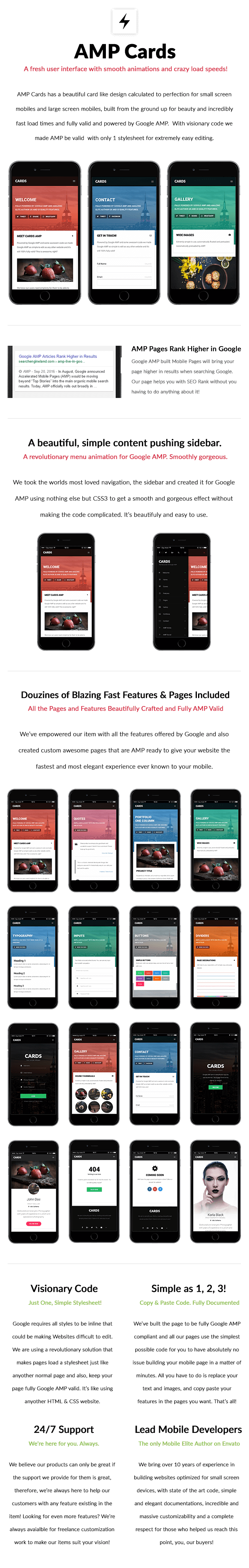 AMP Cards | Mobile Google AMP Template - 8