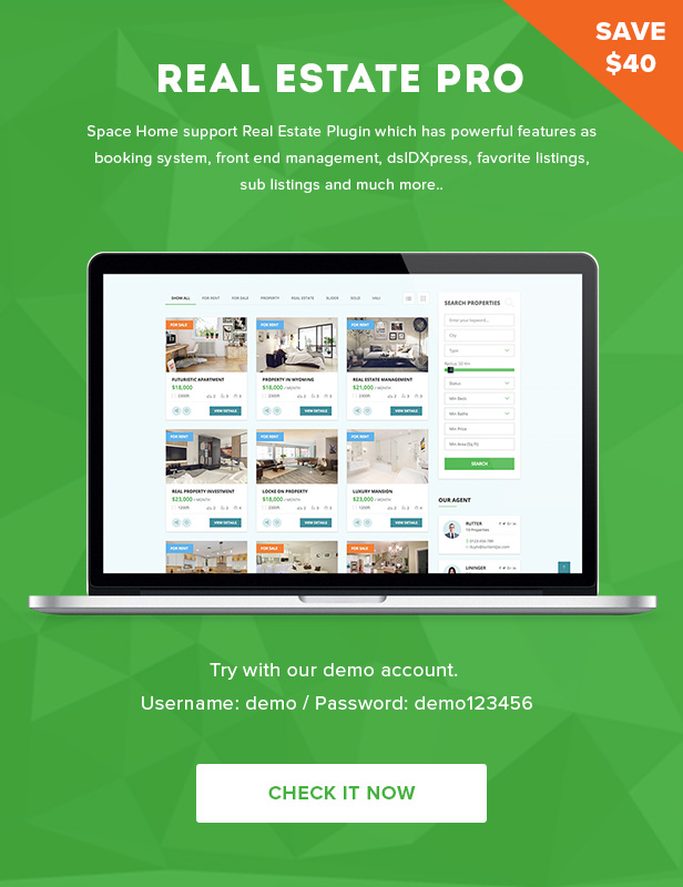 Space Home - Real Estate WordPress Theme - 4
