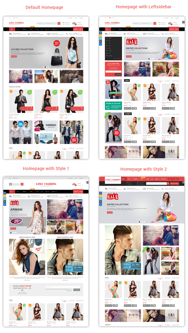 Love Fashion - Homepage Styles