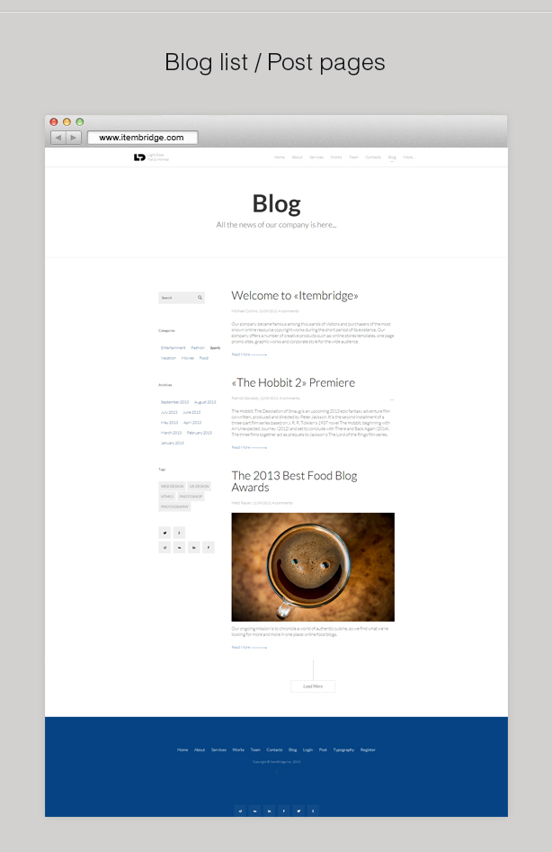 LightDose — Flat&Minimal WordPress Theme