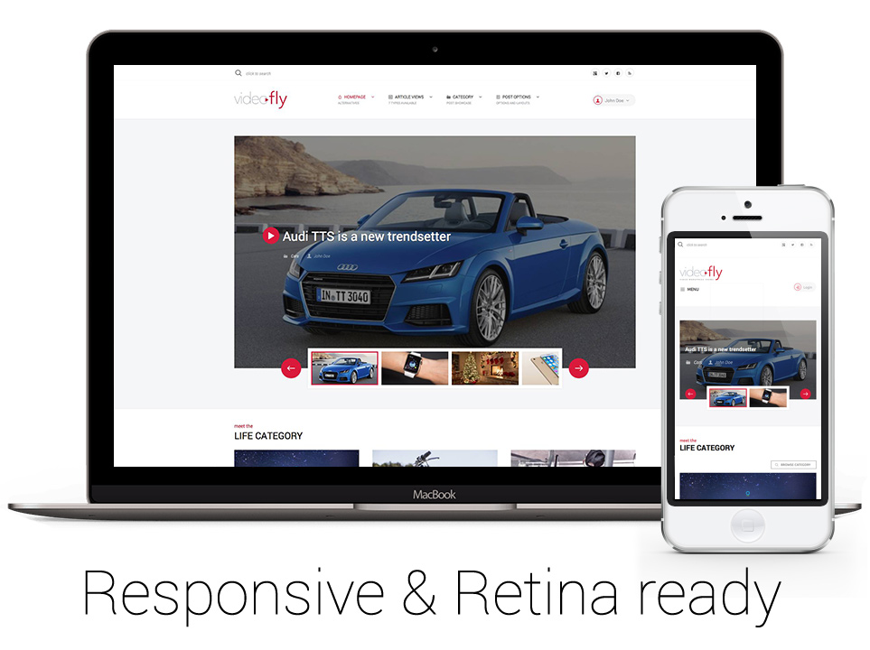 Responsive and retina ready