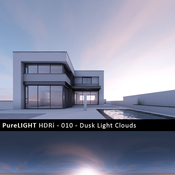 PureLIGHT HDRi 010 - Dusk Light Clouds