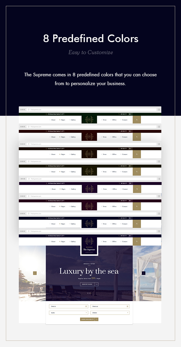 The Supreme - Luxury Hotel HTML5 & CSS3 Template - 3