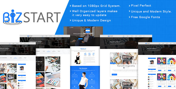 Bizstart Business Corporate - PSD Template