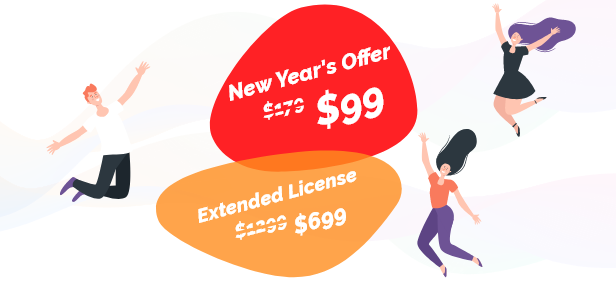 New Year's Offer @ $99 for Regular license - $699 for Extended License