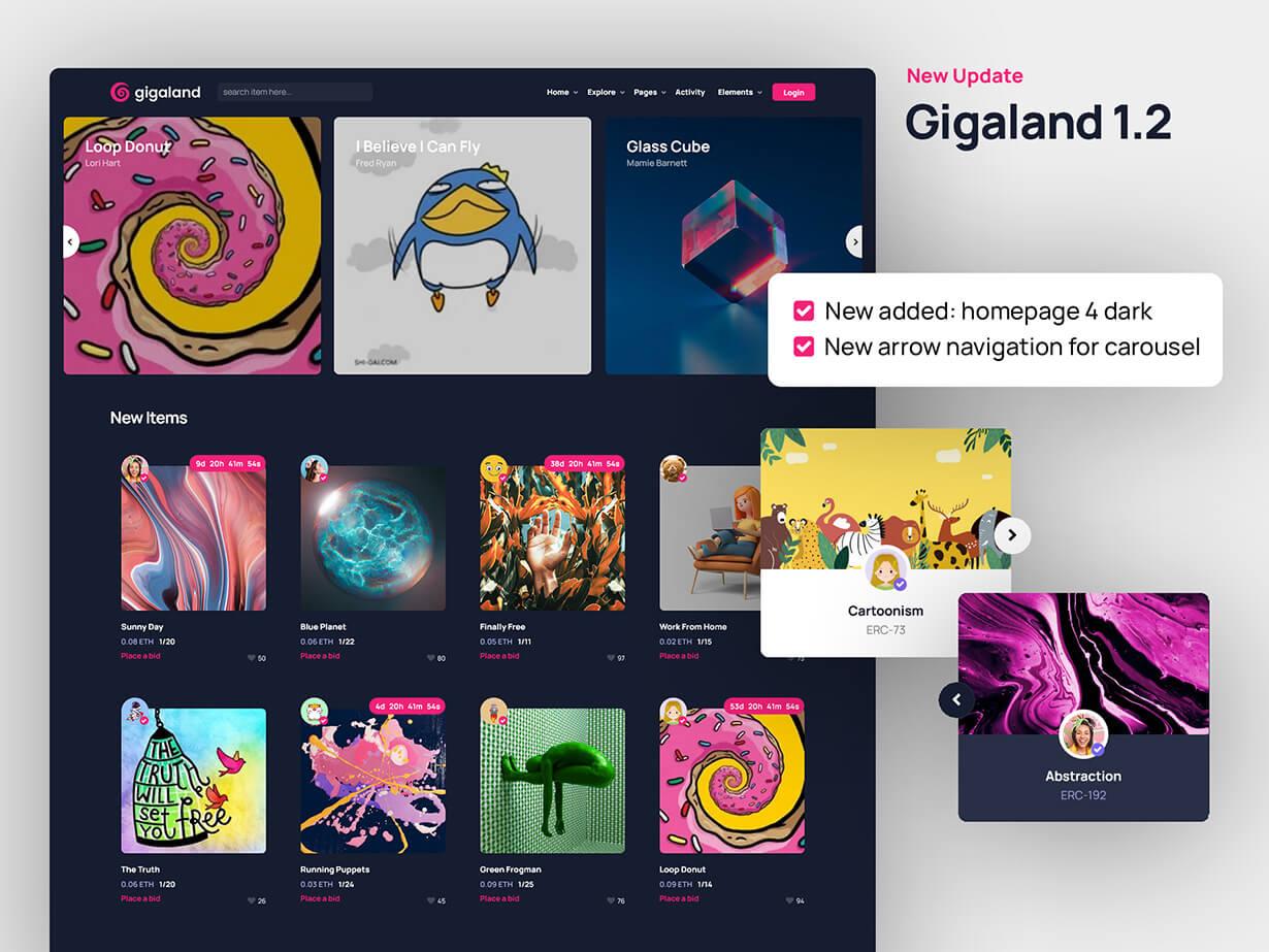 Gigaland - NFT Marketplace HTML Template - 2