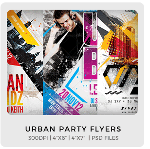 Abstract Party Flyers Bundle Vol1 - 9