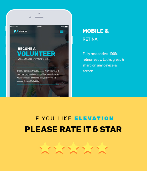 ELEVATION - Charity / Nonprofit / Fundraising PSD Template - 6