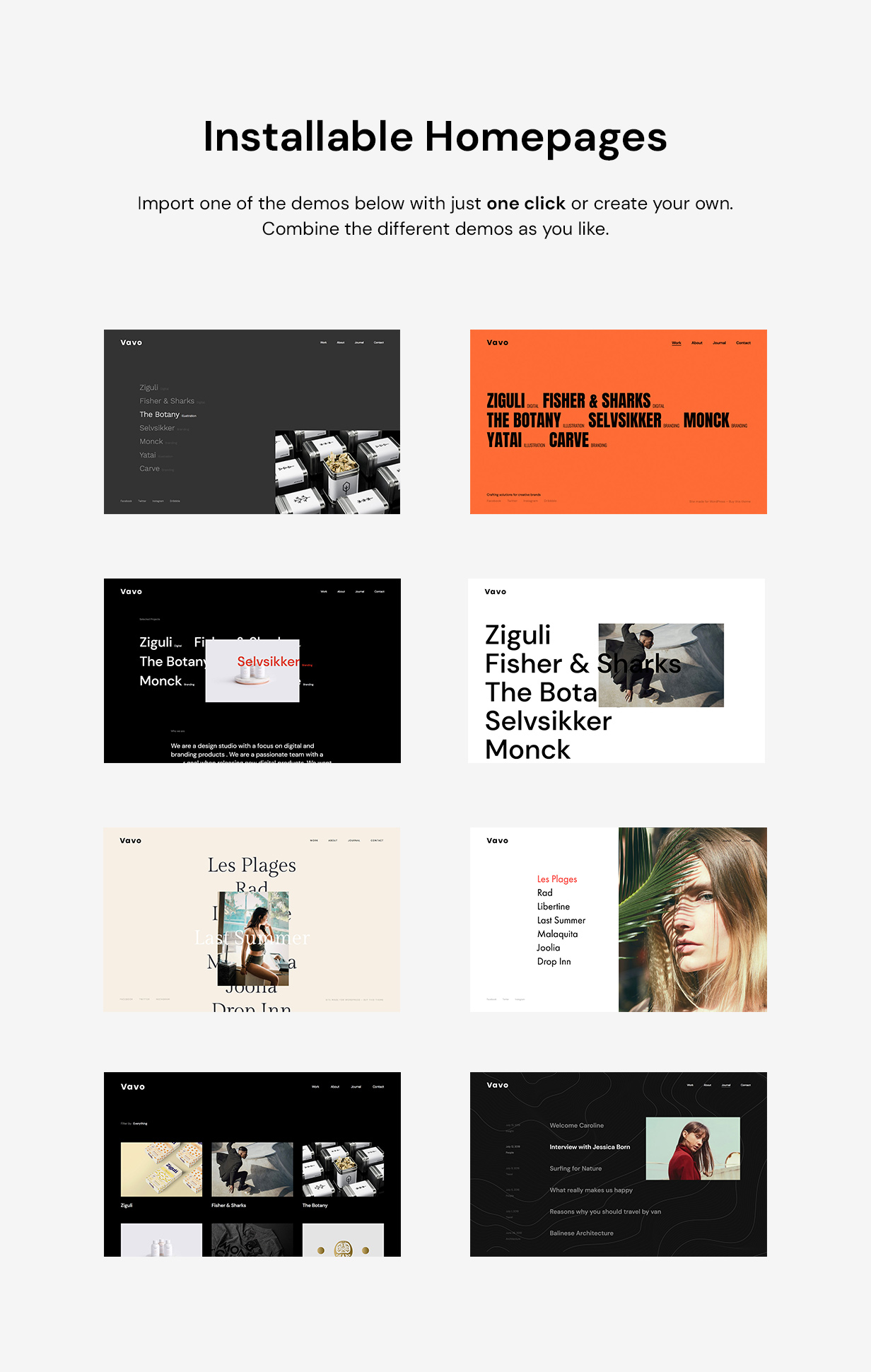 Vavo - An Interactive & Clean Theme for Creatives - 5