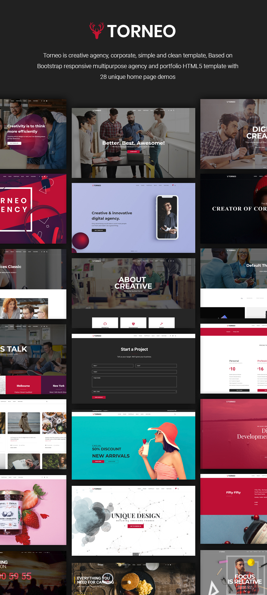 Torneo - Creative Agency Multi-purpose HTML Template by DesignsNinja