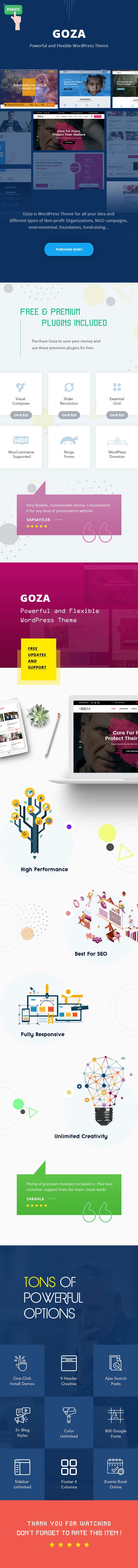Goza - Nonprofit Charity WordPress Theme - 1