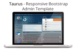 Taurus - Responsive Bootstrap Admin Template - 2