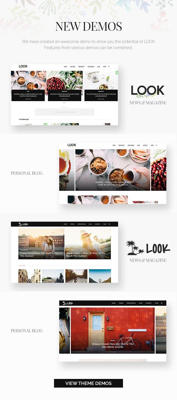 Look: Minimal Magazine and Blog WordPress Theme - 1