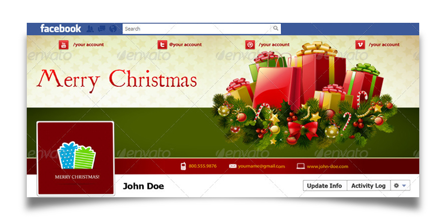Christmas Real Estate Twitter Cover - 9