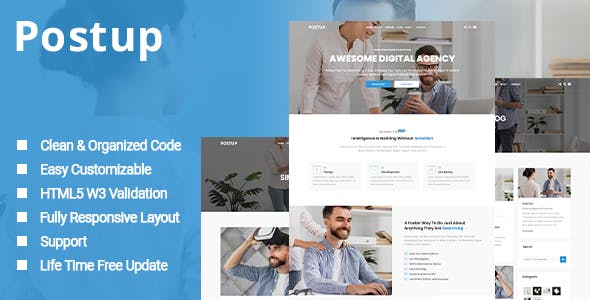 Postup - One Page Parallax Template