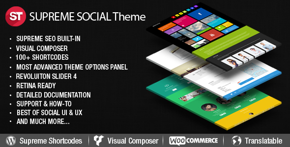 Supreme Social Responsive Multipurpose WordPress Theme