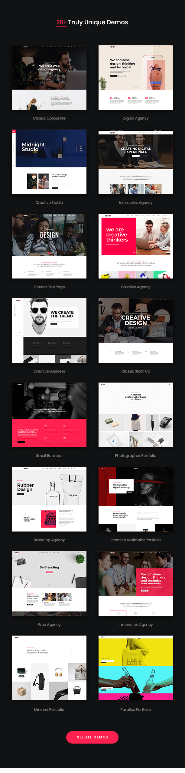 Pofo - Creative Agency, Corporate and Portfolio Multi-purpose Template - 7