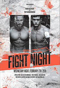 Fight Night Flyer '14