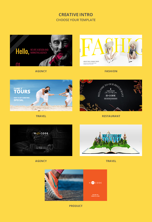 H-Code Multipurpose OnePage & Multi Page Template - 7