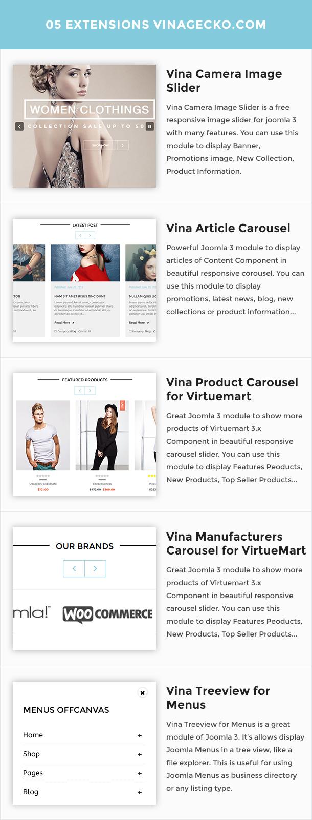 Vina Mogan - Responsive VirtueMart Fashion Template - 14