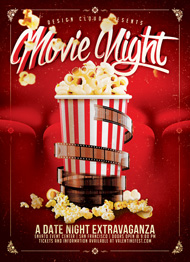 Great ... Design Cloud: Movie/Date Night Flyer Template ...