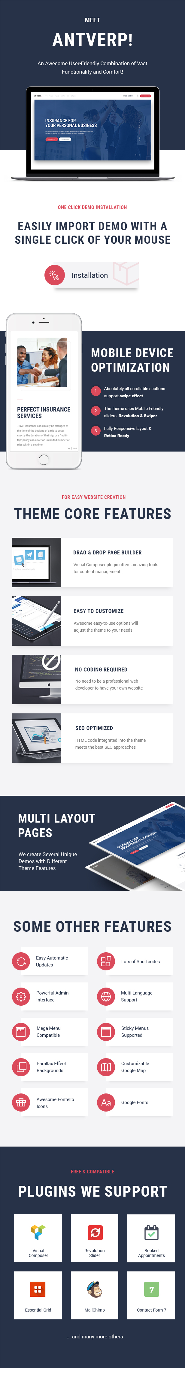 Antverp | An Insurance & Financial Advising WordPress Theme - 3