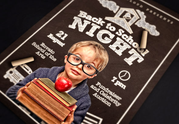 Back To School Night Flyer Template By Design-Cloud | Graphicriver