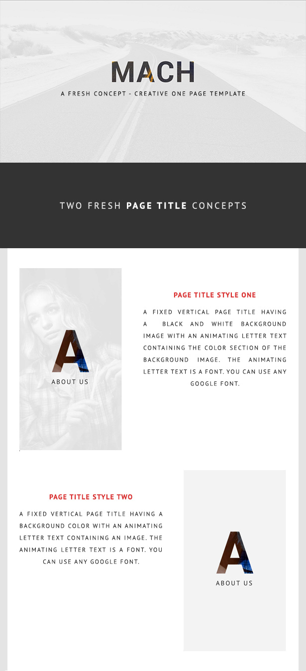 MACH - Fresh Concept One Page Creative HTML5 Template by Fabcode ...