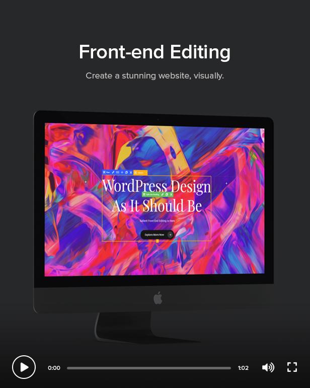 front end editor