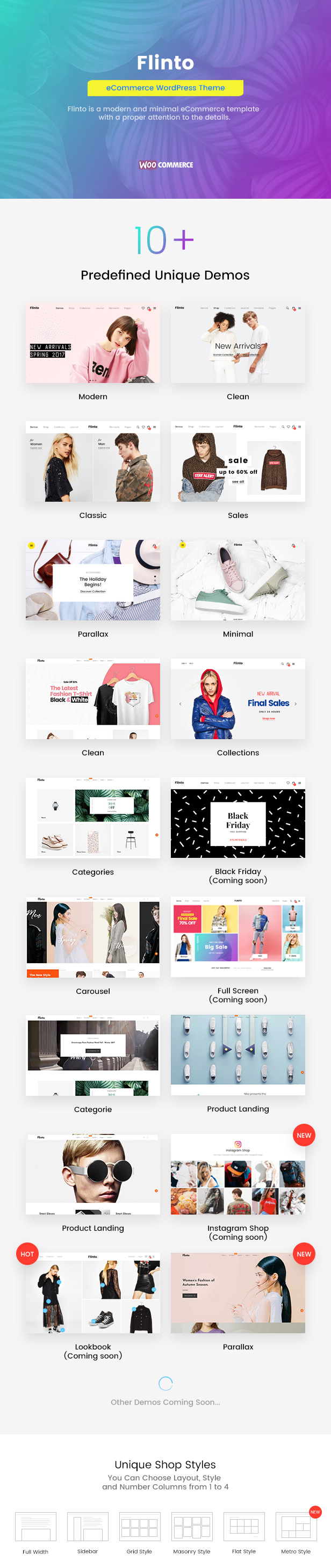 Flinto – Modern and Minimal eCommerce WordPress Theme - 1