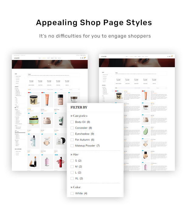 Appealing Shop Page Styles
