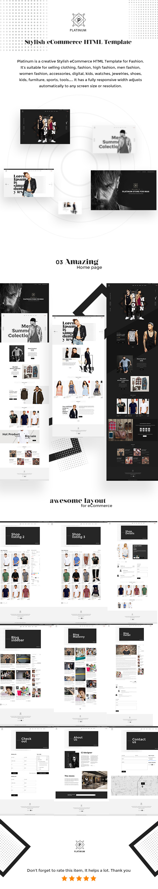 Platinum - Stylish eCommerce HTML Template for Fashion by weThemez on upload design, interactive experience design, dvb design, ms word design, datagrid design, mets design, simple text design, openoffice design, pie graph design, cvs design, spot color design, company branding design, civil 3d design, datatable design, theming design, potoshop design, web design, interactive website design, page banner design, blockquote design,