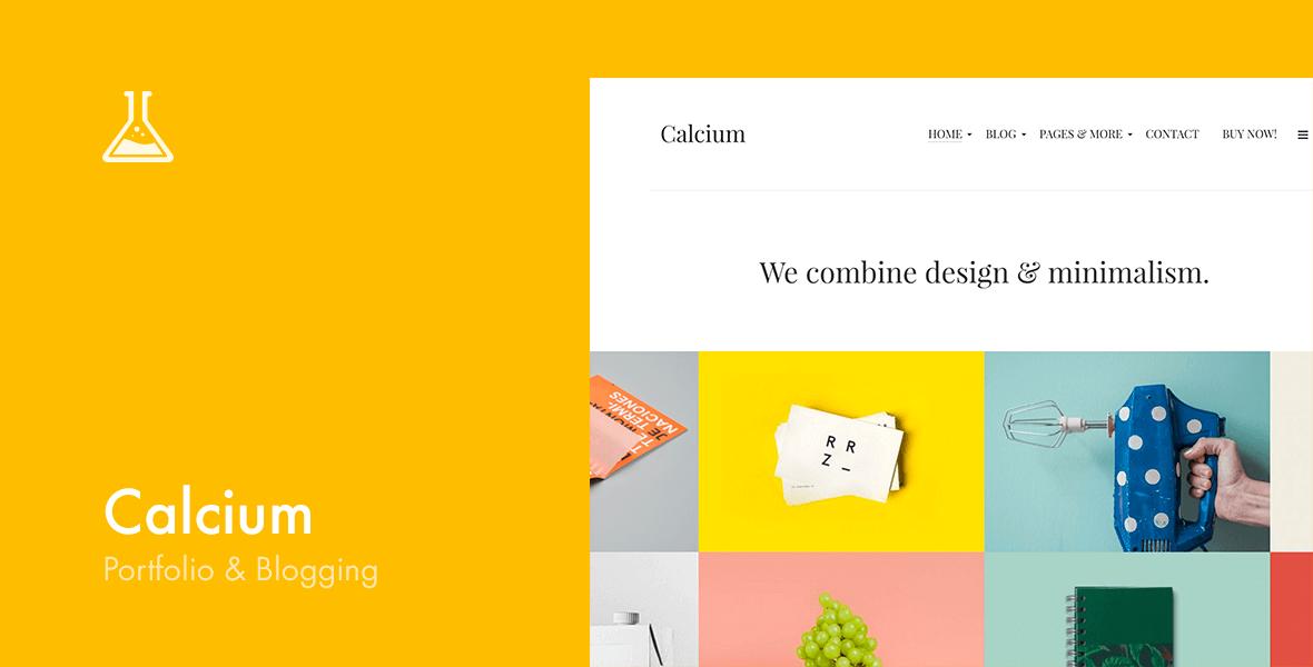 Calcium — Minimalist Portfolio & Blogging Theme