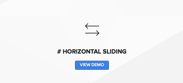 Wordpress blog for photographers with horizontal sliding